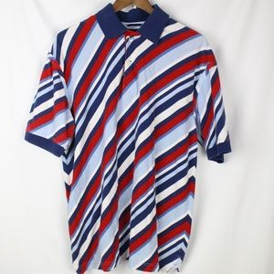 Retro Tommy Hilfiger Red/White/Blue Striped Polo